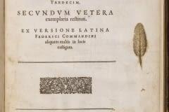 Eukleidou Stoicheiōn biblia 13 = Elementorum Euclidis libri tredecim / secundum vetera exemplaria restituti ; ex versione Latina Federici Commandini aliquam multis in locis castigata